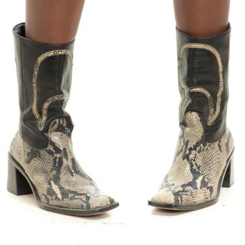 Vintage 90's Serpent Moon Chunky Boots - US 7.5