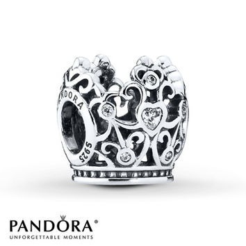PANDORA Charm Disney, Princess Crown Sterling Silver