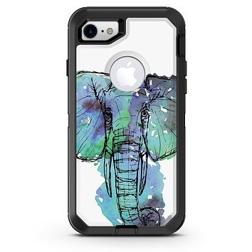 African Sketch Elephant - iPhone 7 or 8 OtterBox Case & Skin Kits