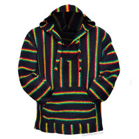 Rasta Pullover Baja Hoodie on Sale for $19.99 at HippieShop.com