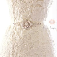 Wedding Sash Belt Bridal Sash Wedding Dress Crystal Rhinestone Bridal Belt