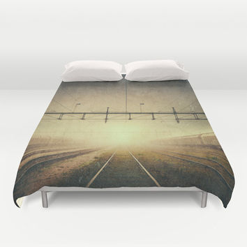 Where to go Duvet Cover by HappyMelvin