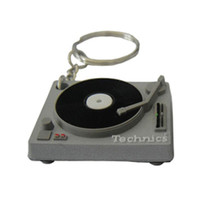 Technics: Turntable Deck Keychain - Silver