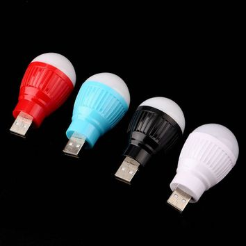 1 pcs Portable Mini USB LED Light Lamp Bulb For Computer Laptop PC Desk Reading Hot New