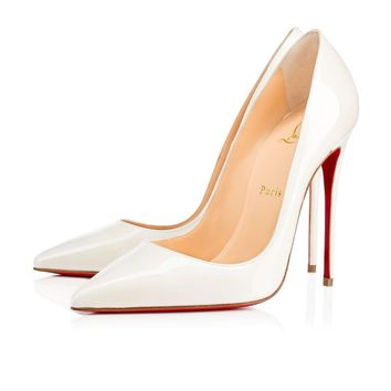 Christian Louboutin Cl So Kate White Aurora Boreale Patent Aurora Boreale 13w Pumps 1170036w073 -