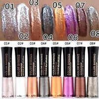 MIXIU Brand 1PC Waterproof Glitter eyeshadow Diamond Pearl Colorful Mineral liquid Eye shadow Eye Liner Makeup Multicolor 8g