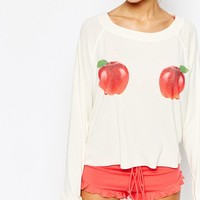 Wildfox Like Them Apples Pajama Top