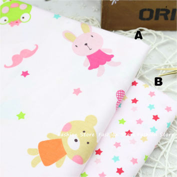 50*40cm piece Cartoon Animal cotton fabric fat Quarter charm pack bundle for sewing cloth kid bedding quilting patchwork crafts