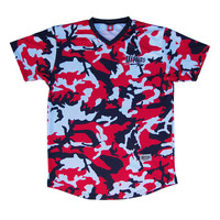 Ultras USA Red, White and Blue Camo Sublimated Soccer Jersey