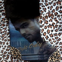 RICKY MARTIN - Upcycled Rock Band T-shirt Christmas Stocking - OOAk