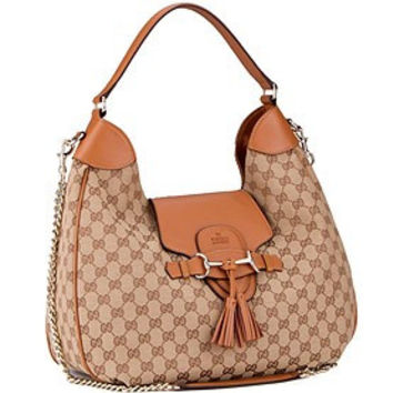 Gucci Emily Cognac Leather Hobo