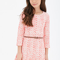 Belted Medallion Print Dress (Kids)