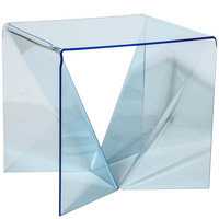 "rare translucent Blue Neal Small ""Origami"" Table"