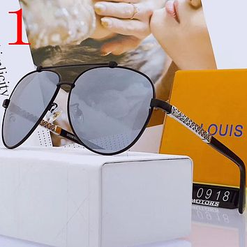 Louis Vuitton LV Fashion Men Summer Sun Shades Eyeglasses Glasses Sunglasses