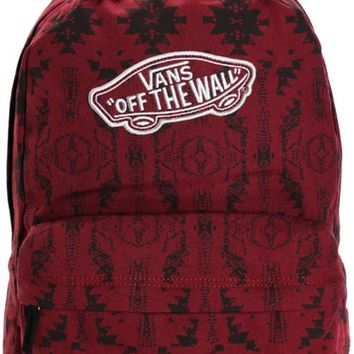 Vans Realm Burgundy Tribal Backpack