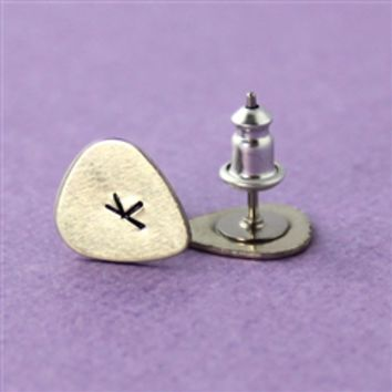 Mini Guitar Pick Stud Earrings - Spiffing Jewelry