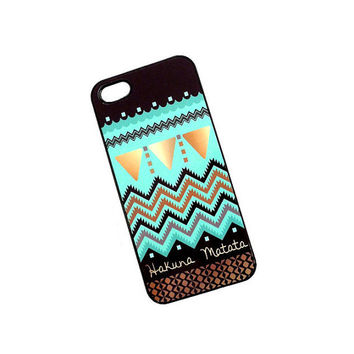 Plastic iPhone 4 / 4S Case Hakuna Matata iPhone Case Mint Gold Black