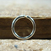 Septum Ring Silver Plain
