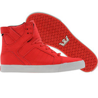 Supra Skytop (chili red wrinkled satin TUF) Shoes S18119 | PickYourShoes.com