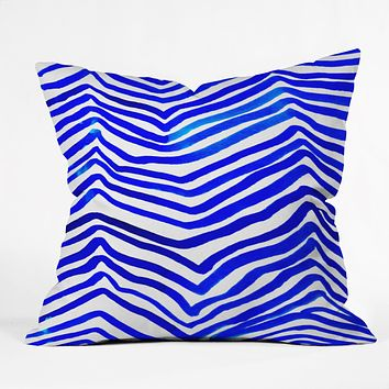 Rebecca Allen A Zebra In Crete Throw Pillow