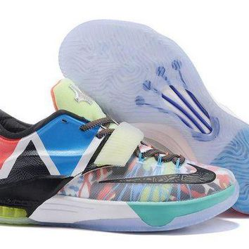DCCKL8A Jacklish 2015 Nike Kd 7 What The Glow In The Dark For Sale Online