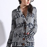 obey - women's wild within cardigan (dark navy)
