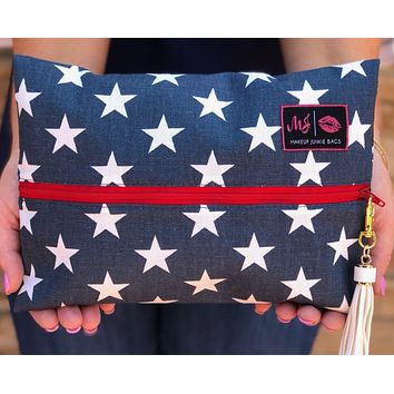Makeup Junkie Bags in Red, White and Beautiful