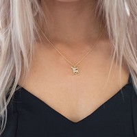 Loveable Bambi Necklace Gold
