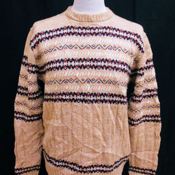 Vintage 1980s Grandad Grandpa Indie Mens Jumper Sweater Small