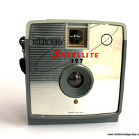 Vintage Camera- Imperial Mercury Satellite, 1964, 127 film, 4x4 exposures, plastic camera,  Vintage Home Decor