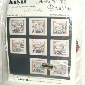 Counted Cross Stitch Kits America The Beautiful By Janlynn Choose your State 31 States Available