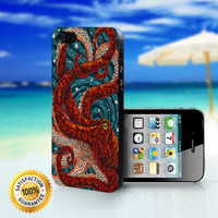 Mosaic Octopus Art - For iPhone 4/4s, iPhone 5, iPhone 5s, iPhone 5c case. Please choose the option