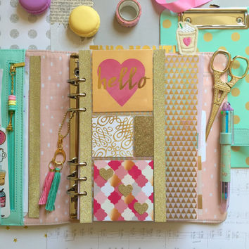 Hello Lovely Planner Filofax Dashboard, Page Marker, Divider (A5) for kikki.K, Kate Spade, Filofax or 6-Ring Agenda