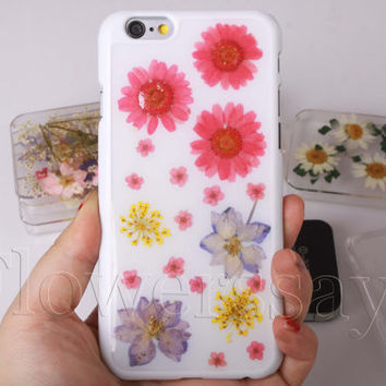iPhone 6 case iPhone 6 plus Pressed Flower, iPhone 5/5s case, iPhone 4/4s case, 5c case Galaxy S4 S5 Note 2 note 3 Real Flower case NO:F452