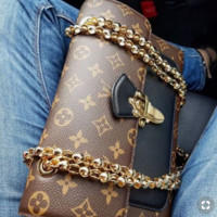 LV Stylish Women Monogram Leather Metal Chain Handbag Shoulder Bag Crossbody Satchel I/A