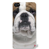 Cute Bulldog Dog Apple Iphone 4 Quality TPU Soft Rubber Case for Iphone 4/4s - AT&T Sprint Verizon - White Case