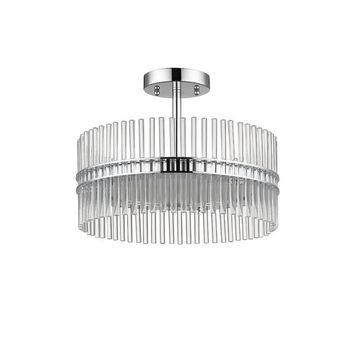 Lorraine 3-Light Semi Flush Mount