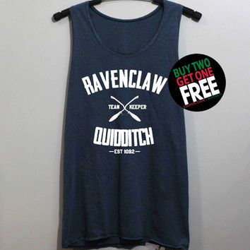 Ravenclaw Quidditch Shirt Harry Potter Shirts Tank Top Tunic TShirt T Shirt Singlet - Size S M L