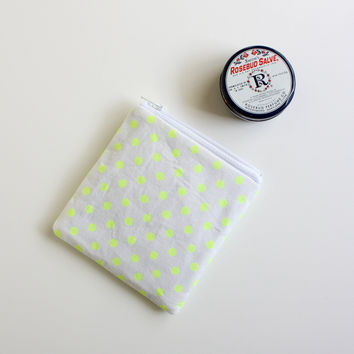 Mini Neon Polka Dot Pouch by helloquiettiger on Etsy
