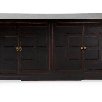 Double Square Buffet, Black Distress, Buffets & Sideboards