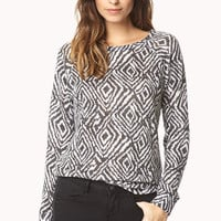 Essential Abstract Raglan Sweater