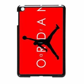 CREYUG7 Jordan Black Logo Red Background13 iPad Mini 2 Case