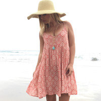 Pecan Swirl Summer Dress
