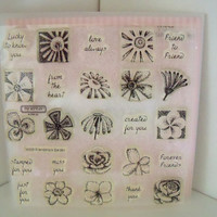 Friendships Garden Set of Clear Acrylic Stamps