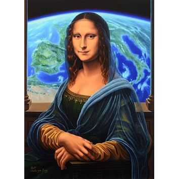 Mona Lisa - Limited Edition Gallery Proof Giclee on Canvas by Charles Lynn Bragg