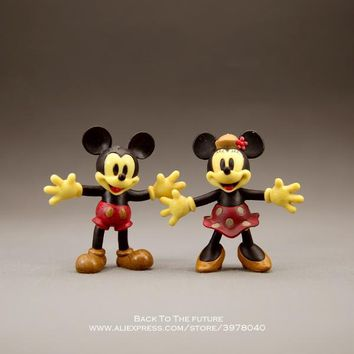 Disney Mickey Mouse Minnie classics 7cm Action Figure Posture Anime Decoration Collection Figurine Toy model children gift
