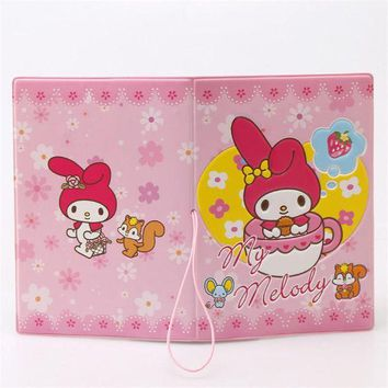 DCCKU62 My Melody Cute Girl 3D Design Fashion Passport holder Cover ID package Travel Accessories Ticket Protective Case Gift