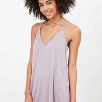 Silence + Noise V-Neck Cupro Mini Dress