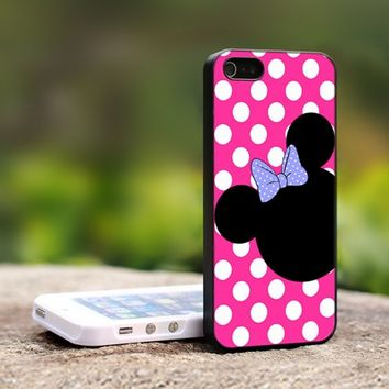Minnie Mouse iPhone Case - For iPhone 5 Black Case Cover