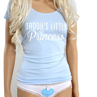DDLG Daddy's little princess clothing set with T-shirt and owned panties. ddlg lingerie set. BDSM kit for littles
